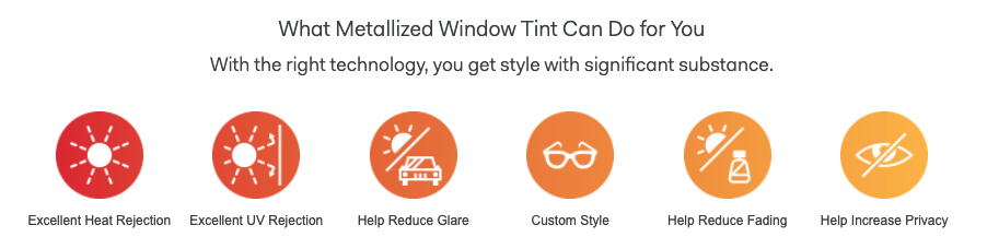 Metallized Window Tint